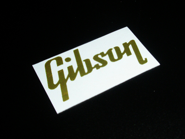 SCHD-141G GIBSON typeface-CLASSIC ロゴ gold デカール
