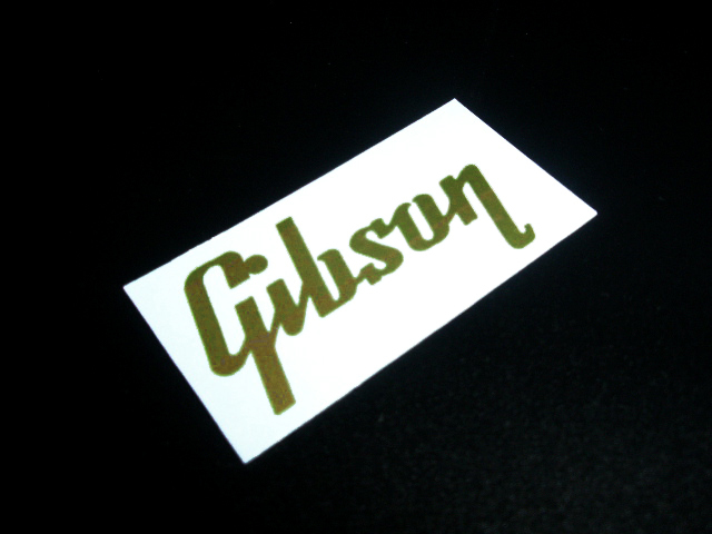 SCHD-142G GIBSON typeface-GIBSON ロゴ gold デカール