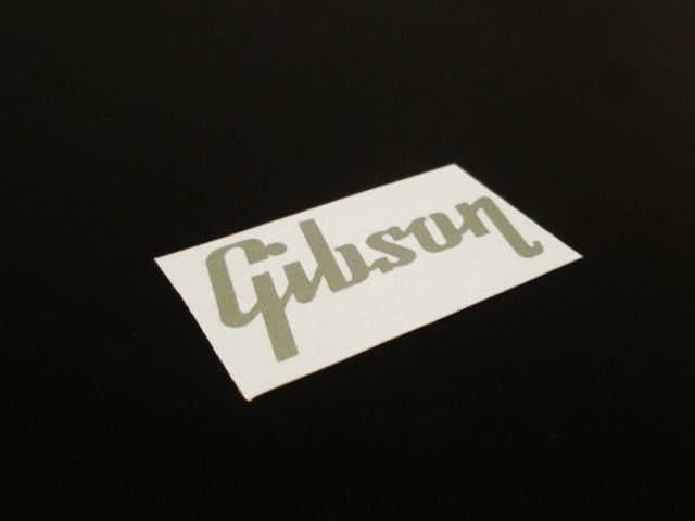 SCHD-143S GIBSON typeface-GIBSON ロゴ silver デカール