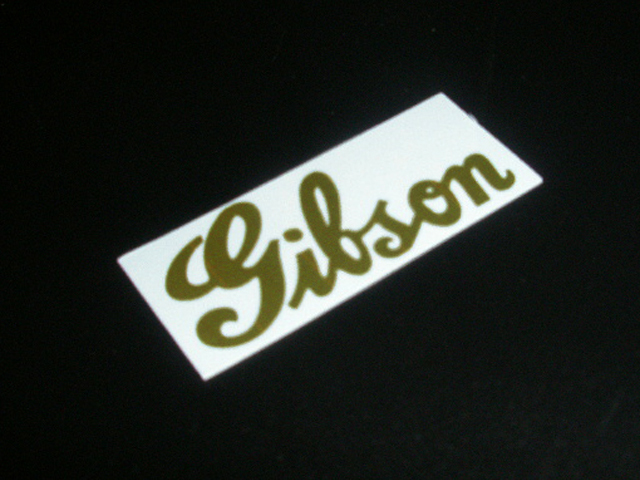 SCHD-144G GIBSON typeface-THICKCURSIVE ロゴ gold デカール
